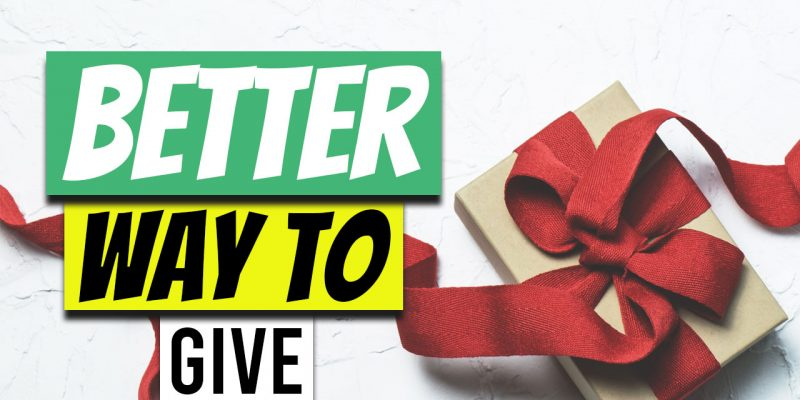 How to Give More by Giving Less