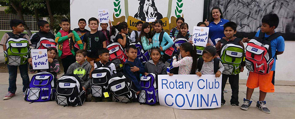 Rotary International Providing Backpacks