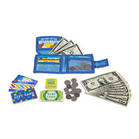 kids play wallet money toy
