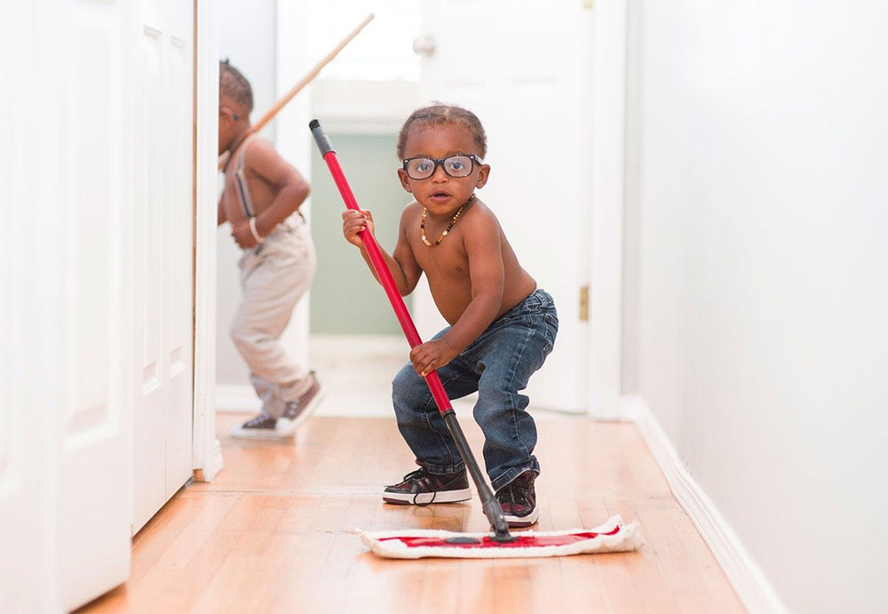 clean house kids help