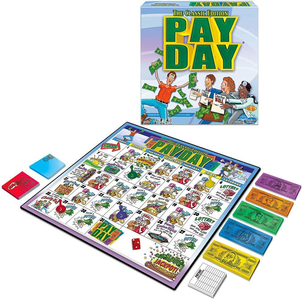 Pay Day Money Board Game